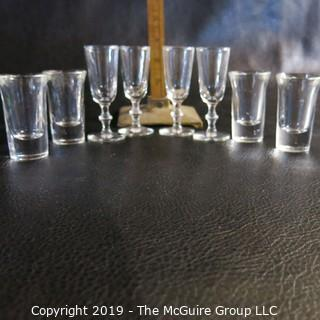 EAPG Sherry Glasses two sets of four