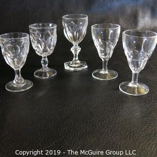"""EAPG Glasses """"Colonial Style"""" incl  Fostoria"""