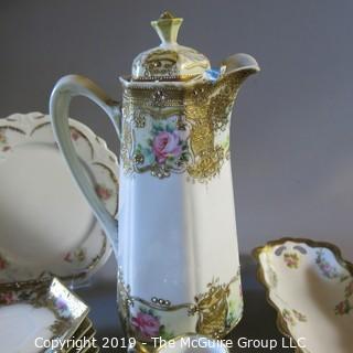 Nippon Chocolate partial set, Noritaki items and Austrian ornate ceramics