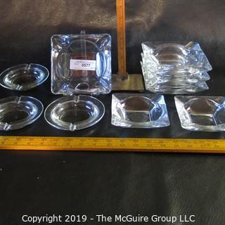 Assortment of Glass Ash Trays