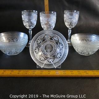 Crystal Stemware and bowls
