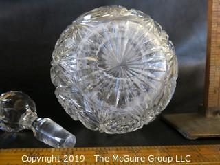 Crystal Decanter Wreath Pattern