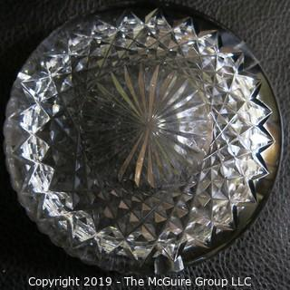 Two Crystal Ash Trays incl Cut-Crystal WATERFORD marked