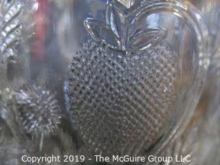 "EAPG (6) Tumblers Inverted Strawberry Pattern Cambridge #2780 ""Near-Cut"""