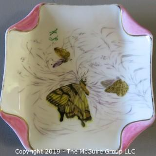 German Fine China 2 plates Butterflys