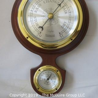 """Taylor Vertical Wall Barometer/Thermometer/Humidity Gauge; 24""""T"""