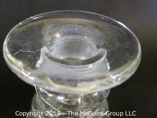 Two Small Crystal Decanters 'Colonial Style'