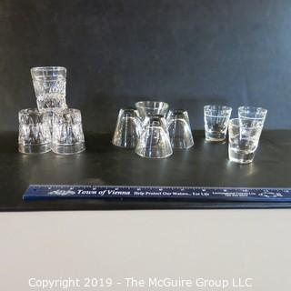 Mixed Glassware x11 shot glasses  incl 5 x Libby