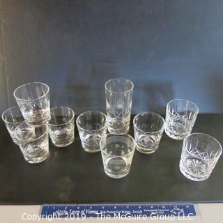 Mixed Glassware x10  incl etched & cut