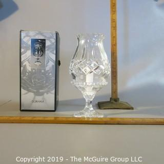 Gorham Lead Crystal Candle Sconce