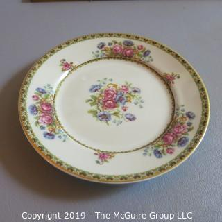 Haviland Limoges Ivory China x8 Dessert Plates - Flowers