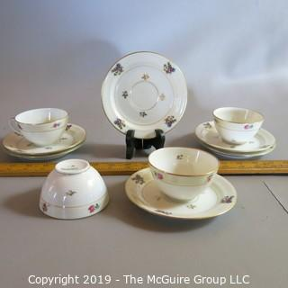 Limoge Cups & Saucers by Chastagner - Pattern Numbered