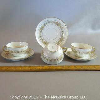 Limoge x3 Cups & Saucers by Guerin