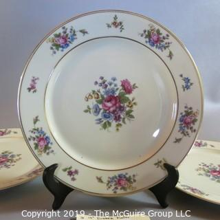 "China Plates - Bavarian - x3 'The Queenrose"" pattern"