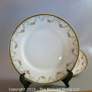 "Haviland Limoges Ivory China x3 ""Spa"" pattern"