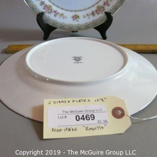 """Noritake Dinner Plate x2 """"Rossette"""""""