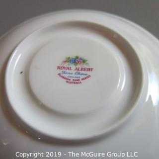 Fine China - Mixed Plate Cup and Saucers - Bavaria, Royal Albert, CZ
