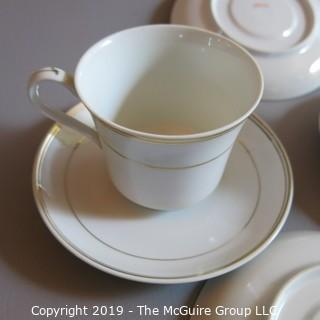 Fine China - Cups and Saucers - x3 Gold Trim Japan