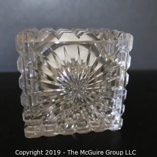 Crystal Inkwell with Silver Lid