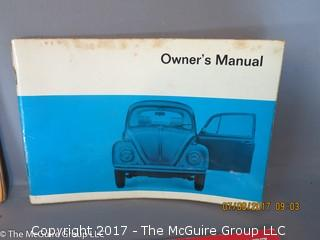 Collection of Vintage auto manuals