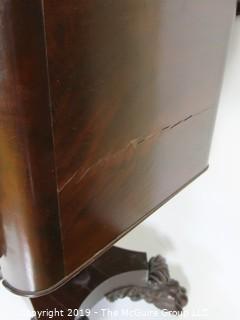 Furniture: Vintage: Antique: Writing Desk Circa 1830 - Carved Clawfoot Pedestal
