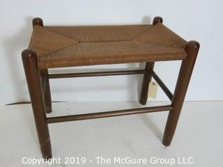 Furniture: Vintage: Antique: Cain Woven Spindle Seat