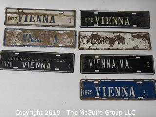 1960's and 1970's Vienna, VA Plates