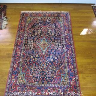 "Collectible: Antique: Textile: Oriental Rug: Large 50x82"" (TMG 707)"