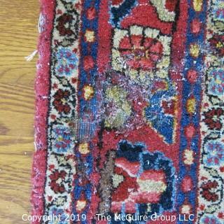 "Collectible: Antique: Textile: Oriental Rug: Large 50x82"" (TMG 707)"