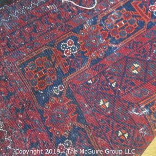 Collectible: Antique: Textile: Oriental Rug: Large 63x104 (TMG 705)