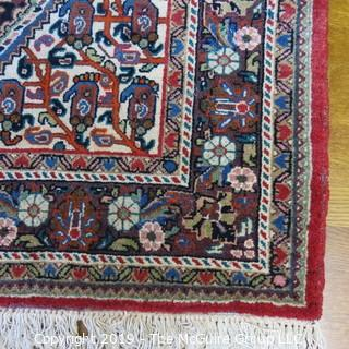 "Collectible: Antique: Textile: Oriental Rug: Large 52x82"" (TMG 715)"