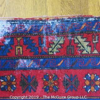 "Collectible: Antique: Textile: Oriental Rug: Large 54x97"" (TMG 796)"