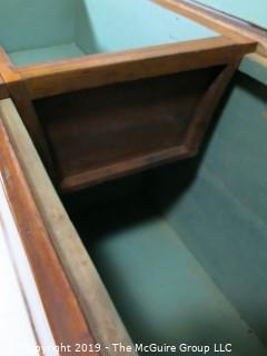 "Furniture: Vintage: Antique: Large Pine Felt-Lined 'Blanket Box?' w/Sliding Tray; 50W x 18 1/2D x 29""T"