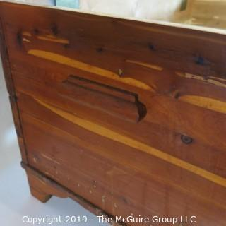 Furniture: Vintage: Antique: Cedar Chest' (see photos for dimenstions) Brass Hinges