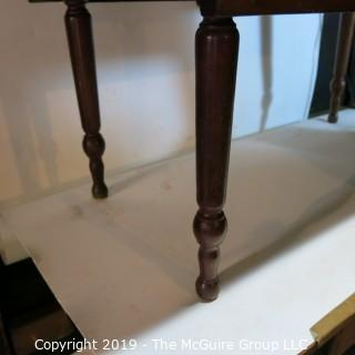 Furniture: Vintage: Antique: Double Drop-Leaf Spindle Table w/ wood peg construction (w/character issues)