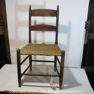 Furniture: Vintage: Antique: Coil Woven Ladder-back Chair Spindle