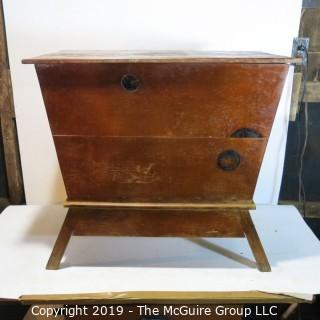 Furniture: Vintage: Antique: Pine Pie-Safe/Larder Trapezoidal Design (hinge needs stabilizing)