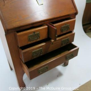 "Furniture: Vintage: Antique: Secretary: Oak; 28W x 16 1/2D x 46""T"