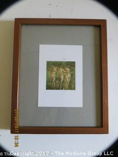 Framed museum photograph; 8 3/4 x 10 3/4