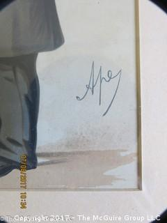 "Vanity Fair caricature ""Duke of Buckingham""  lithograph; 12 1/2 x 17 3/4"""