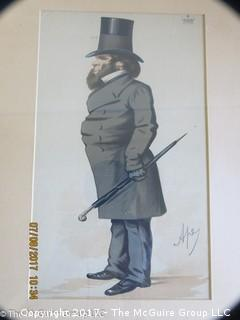 "Vanity Fair caricature ""Duke of Buckingham""  lithograph; 12 1/2 x 17 3/4"""