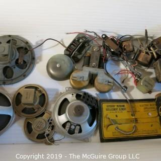 Vintage: Electronics: Parts: speakers, door bells, etc  WYSIWYG