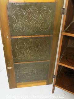 "Furniture: Vintage: Antique: Pie Safe no Drawers; 40 x 20 x 46""T"