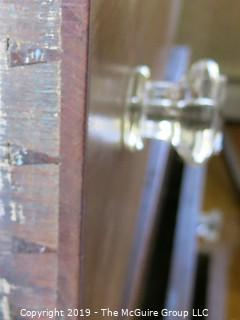 "Furniture: Vintage: Antique: 4-Drawer Chest; 45W x 22D x 47""T (missing 1 glass knob)"