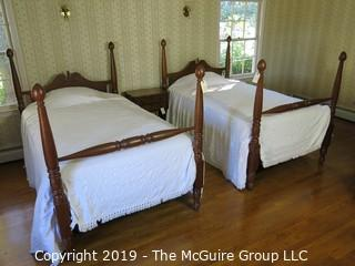 """Furniture: (2) Full Size Beds (mattresses, box springs, bedding and spreads free); frame 51W x 82L; posters are 55""""T; mattress dimensions are 48 x 76""""  MUST TAKE ALL"""