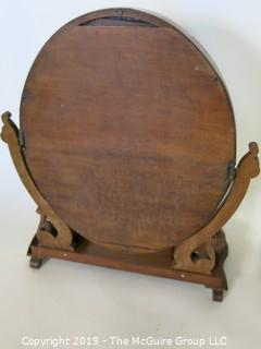 "Furniture: Vintage: Antique: Tilting Dressing Mirror w/ 2-compartments; 10W x 10D x 26""T"