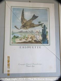 Poster Ephemera (framed under glass (cracked); 17 x 21