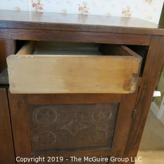 "Furniture: Vintage: Antique: Heavy Pie Safe 2-upper drawers; 44 x 15 49""T"