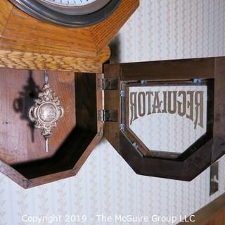 Furniture: Wall Clock: Octagonal Regulator Wall Clock