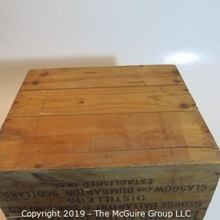Collectible: Advertising: Wooden Box: Ballantine Whiskey (condition issues)